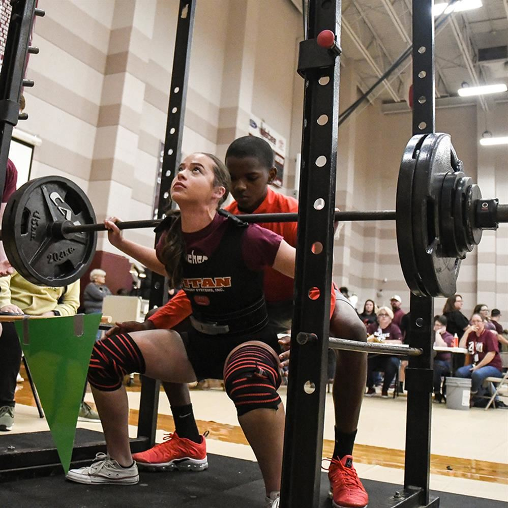 Powerlifting meet photo