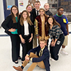 Speech and Debate students pose for a picture
