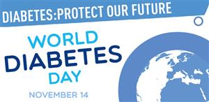 Wear blue to acknowledge World Diabetes Day