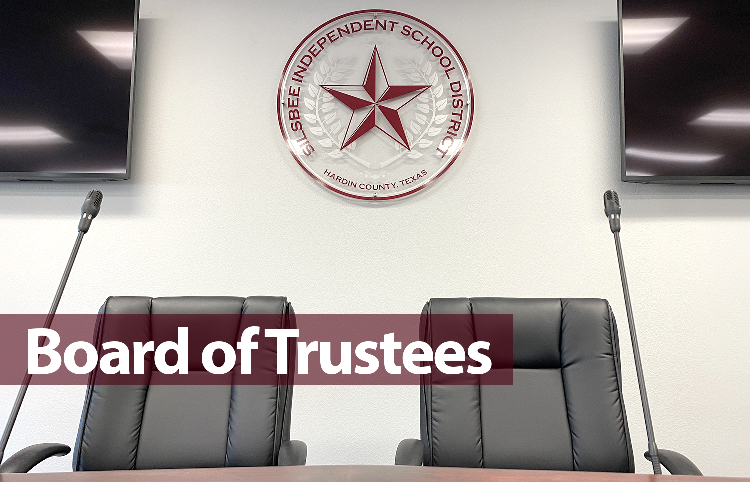 Board of Trustees sign